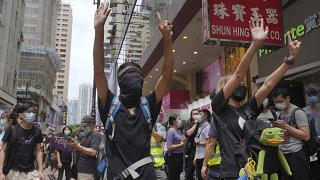 Протестующие в Гонконге 24.05.20