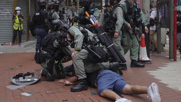 Hong Kong'da Çin karşıtı gösteri