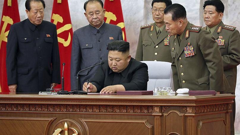 朝鮮通信社/KCNA via KNS