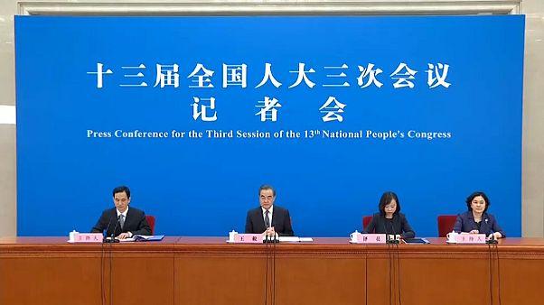El ministro de Exteriores chino Wang Yi negó cualquier indemnización
