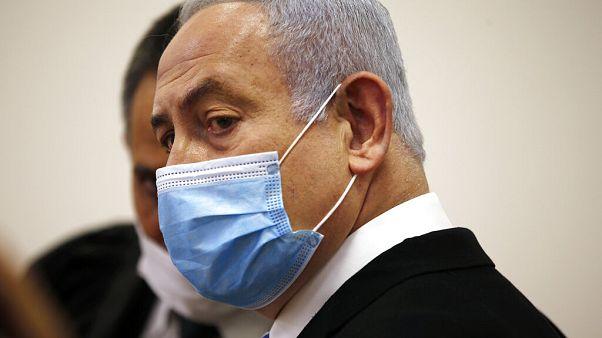 Ο Νετανιάχου στο δικαστήριο φορώντας μάσκα