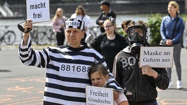 Protest gegen Corona-Beschränkungen am Samstag in Köln