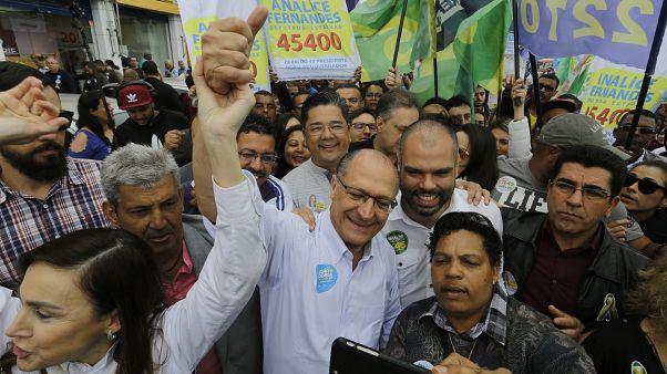 Bruno Covas nell'ultima campagna per le amministrative