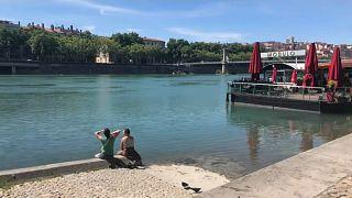 Sur les quais de Rhône à Lyon en France
