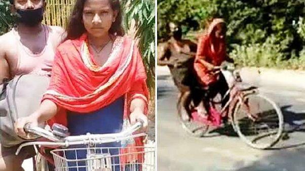 Jyoti Kumari and her father (https://www.thestatesman.com/)