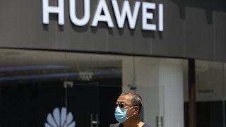 A Huawei egyik boltja Pekingben