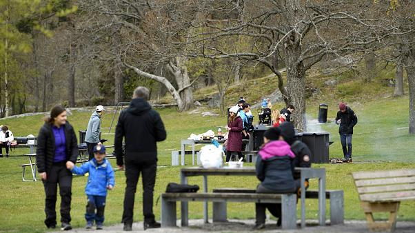 Un parque sueco en abril, con la mayor parte de Europa en confinamiento estricto