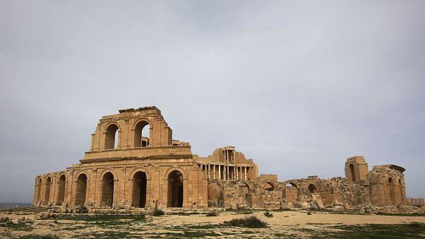 المدرج الروماني في موقع صبراتة الأثري في صبراتة في ليبيا 28/02/2011