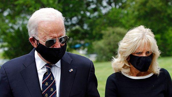 جو بایدن به همراه همسرش، جیل بایدن