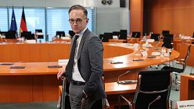German Foreign Minister Heiko Maas attends the weekly cabinet meeting at the Chancellery in Berlin, Germany, Wednesday, May 20, 2020.