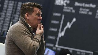 Stock market in Frankfurt, Germany