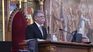 Kövér László házelnök az Országgyűlés ünnepi ülésén 2020. május 2-án