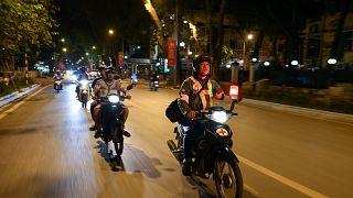 سائقو دراجات الأجرة في فيتنام