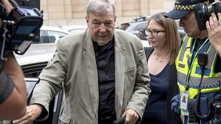 Feb. 26, 2019 - Cardinal George Pell leaves the County Court in Melbourne, Australia