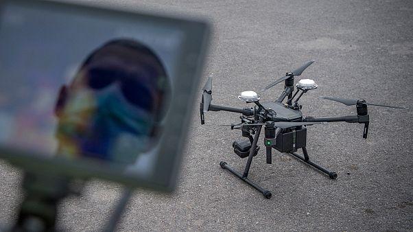 استخدام الطائرات المسيرة في بعض الدول خلال أزمة تفشي كورونا