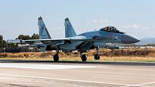مقاتلة روسية في قاعدة حميميم العسكرية في سوريا
