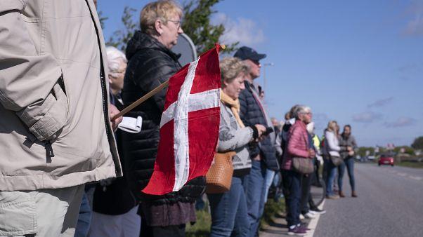 Proteste für die Grenzöffnung in Saed, Dänemark, am 17. Mai