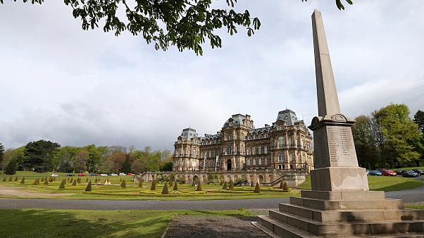 This May 7, 2014 photo shows a general view of the War Memorial on the grounds of the Bowes Museum in Barnard Castle, England