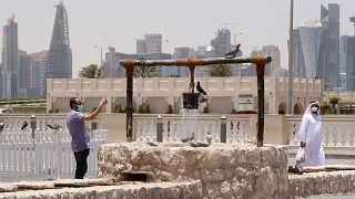 صورة لجانب من سوق واقف بالعاصمة القطرية الدوحة 17/05/2020