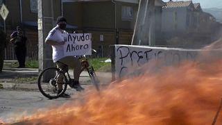 Protestas en Santiago de Chile para pedir ayuda del Gobierno
