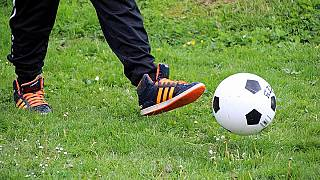 An illegal football match watched by hundreds was held in Strasbroug, France, on May 24.