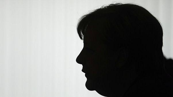 Merkel durante una rueda de prensa