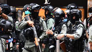 قوات أمن في هونغ كونغ
