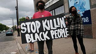 معترضان در خیابان های مینیاپولیس «کشتار سیاهان را متوقف کنید»