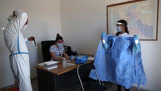 Coronavirus-Tests in Griechenland