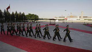 PLA soldiers in Tiananmen Square, Beijing
