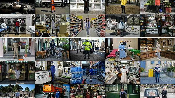 صور جمعتها وكالة فرانس برس عبر العالم خلال جائحة كورونا