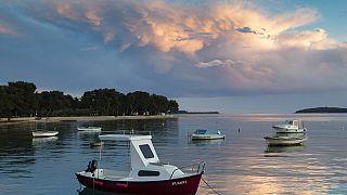 Am Strand in Kroatien
