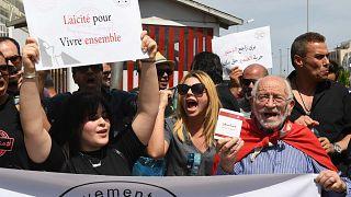 مظاهرة في تونس للتنديد باعتقالات غير الصائمين، 27 مايو / أيار 2018