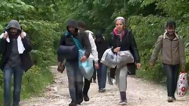 Menekültek egy boszniai úton