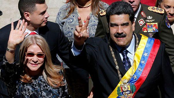 نیکلاس مادورو و همسرش