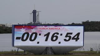 A SpaceX Falcon 9, with NASA astronauts Doug Hurley and Robert Behnken in the Dragon crew capsule, has even called off with 16 minutes to go at the Kennedy Space Center in Cap