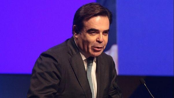 Ο Αντιπρόεδρος της Ευρωπαϊκής Επιτροπής Μαργαρίτης Σχοινάς