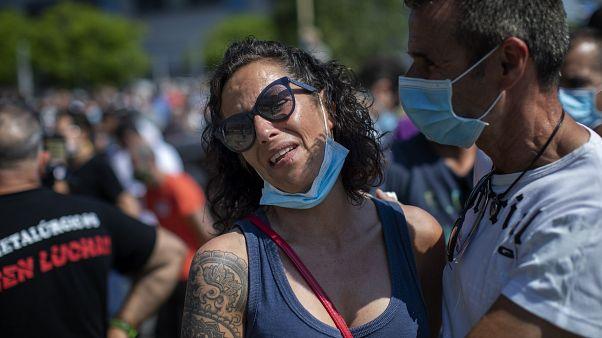 Испания: рабочие Nissan протестуют