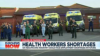 UK healthcare workers during the clap for carers