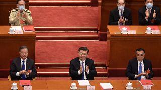 الرئيس الصيني خلال جلسة التصويت