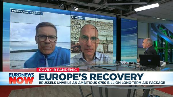 Alex Stubb and Enrico Letta speak about broad support for EU rescue package
