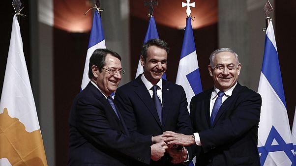 Φωτογραφία από την υπογραφή της διακρατικής συμφωνίας για τον East Med