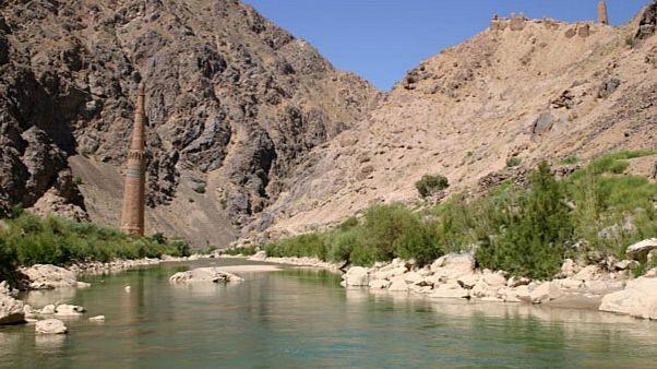 The Minaret of Jam and Qasr Zarafshan, by the Hari Rud (river)