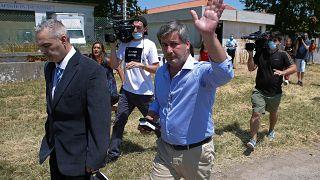 Bruno de Carvalho à saída do tribunal de Monsanto