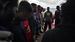 عکس تزئینی از پناهجویان در لیبی