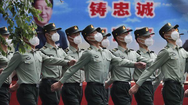Çin Kurtuluş Ordusu resmi geçit töreni