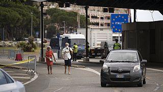 Grenze zwischen Italien und Frankreich am 15. Juni 2020