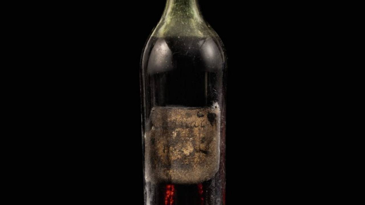 """Grand Frere"", a 1762 bottle of Cognac sold for more than €130,000 at auction on May 28, 2020."