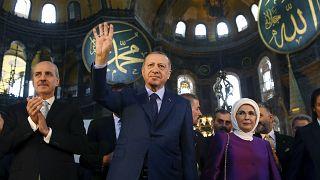 Cumhurbaşkanı Erdoğan, Ayasfoya'yı ziyaret etmişi