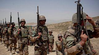 گروهی از سربازان اردوی ملی افغانستان در ولایت پکتیا